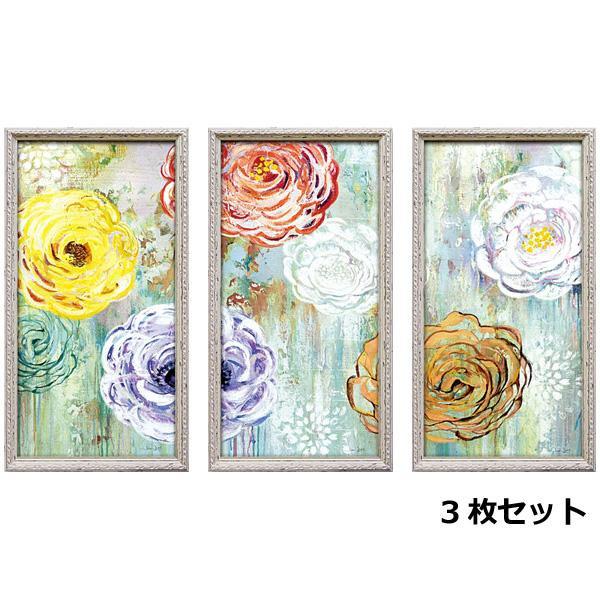 便利雑貨 アートフレーム ジン ジン「シャワー オブ フラワー パネル」 3枚セット JJ-23001