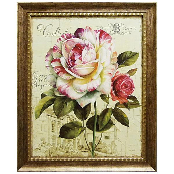 便利雑貨 アートフレーム リサ オーディット「ガーデン ビュー ローズ3」 LA-17002