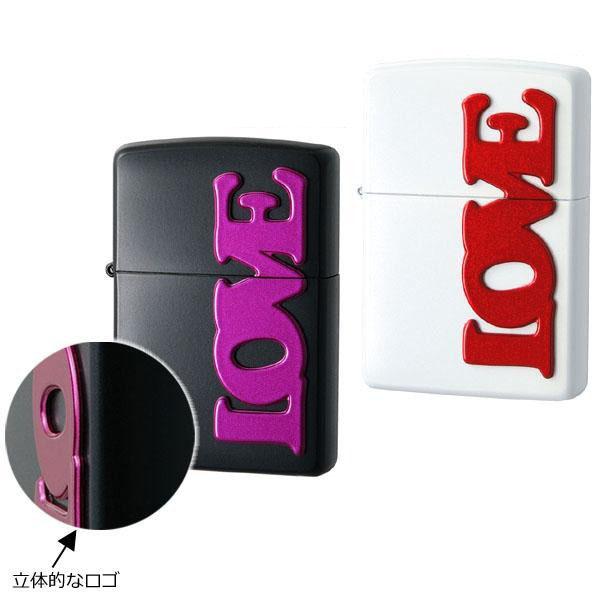 日用品 便利 ユニーク ZIPPO(ジッポー) ライター LOVE ブラック・63330198