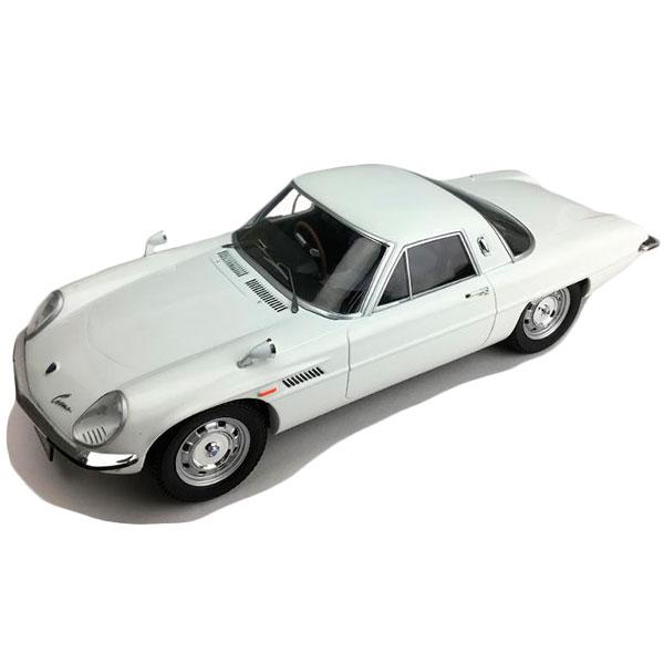 便利雑貨 玩具 関連商品 モデルカー ミニチュア 車オブジェ マツダ コスモスポーツ L10B(後期型) ホワイト 1/18スケール F18008
