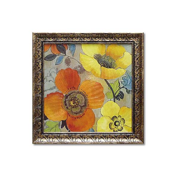 便利雑貨 アリソン ピアス アートフレーム 「イエロー アンド オレンジ ポピーズ1」 AP-11003