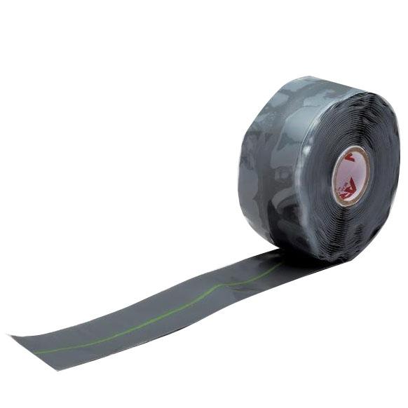 UNITEC ユニテック 強力 速融着補修テープ アーロンテープ・グレー 幅38×長さ6000mm SRG-38 幅広タイプ