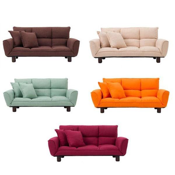 家具/収納 サン・ハーベスト コンパクトカウチソファ クッション2個付き SP-622 BE・ベージュ
