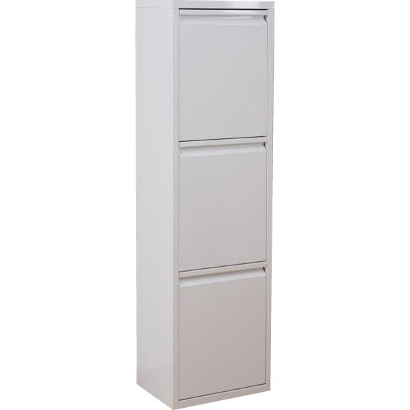 角型 ゴミ箱 インテリア・寝具・収納 関連 樹脂製のペールは水洗いOK いつでも清潔ダストボックス  ダストボックス(3分別) ホワイト DS-77