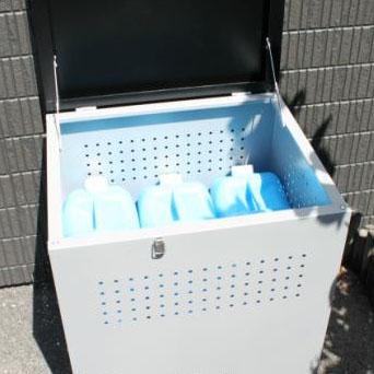 角型 ゴミ箱 インテリア・寝具・収納 関連 穴開きで臭いがこもりにくいダストボックス  組み立て式 ダストボックス60 DB-60 グレー×ブラック