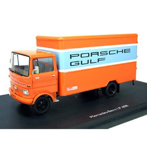 【単三電池 1本】おまけ付きSchuco/シュコー メルセデス・ベンツ LP608 PORSCHE GULF オレンジ 1/43スケール 03524 本物を忠実に再現したモデルカー!