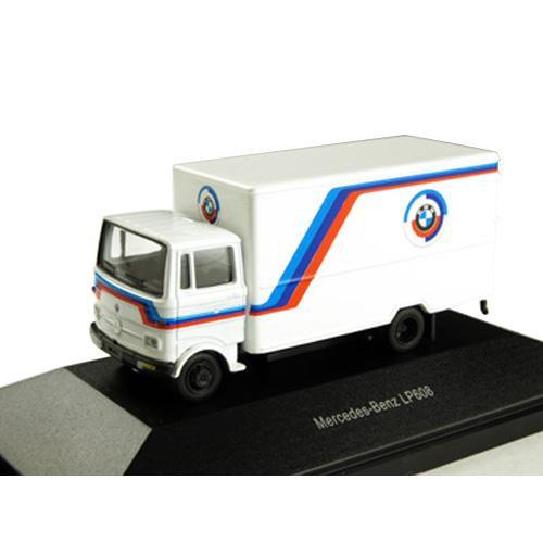 ホビー プラモデル・模型 車・バイク トラック 関連 本物を忠実に再現したモデルカー! メルセデス・ベンツ LP608 ボックスバン BMW モータースポーツ ホワイト 1/87スケール 452237300 人気 商品 送料無料