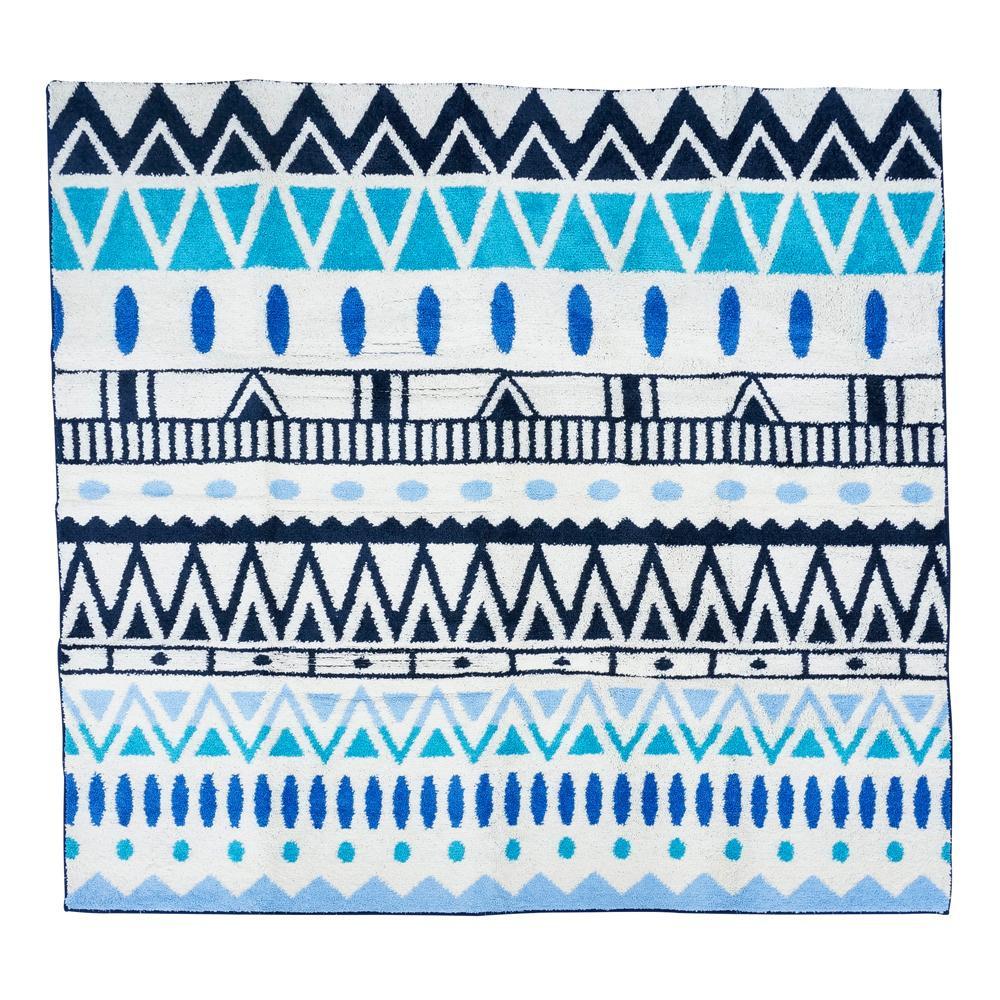 日用品 便利 ユニーク ラグマット 185×185cm マリブ □敷物・カーテン 関連商品