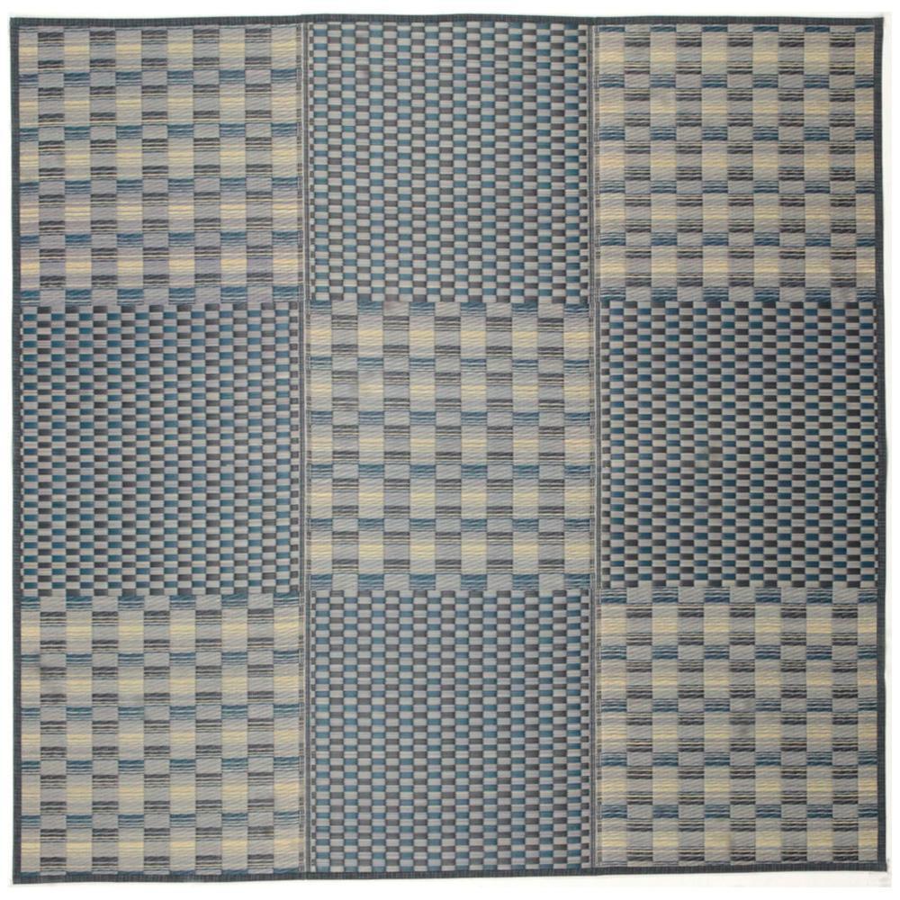 角型 関連商品 81932501 キハチ (裏貼り) 約180×240cm ブルー □カーペット・ラグ お役立ちグッズ い草コンパクトラグ