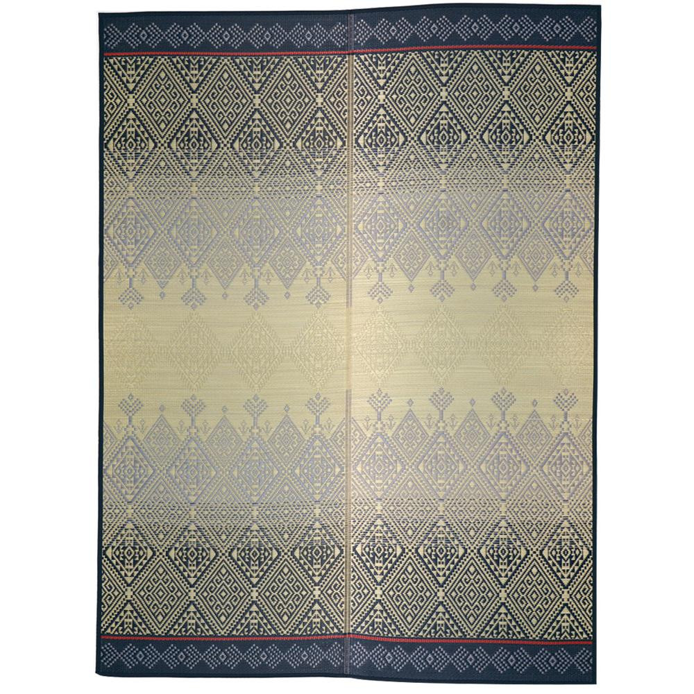 トレンド 雑貨 おしゃれ い草センターラグ(裏貼り) KOGIN 約191×250cm ブルー 81922901 □カーペット・ラグ 角型 関連商品