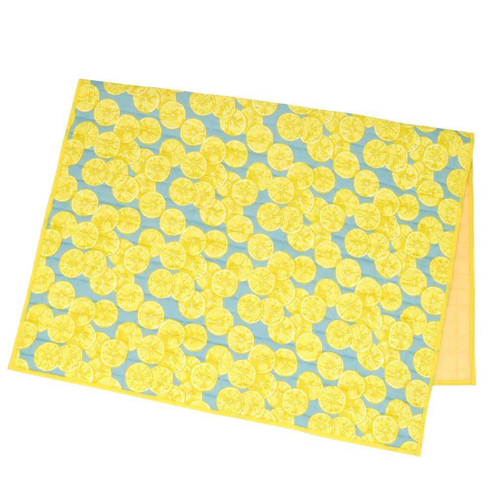 冷感キルトラグ レモン 14119875118お得 な全国一律 送料無料 日用品 便利 ユニーク