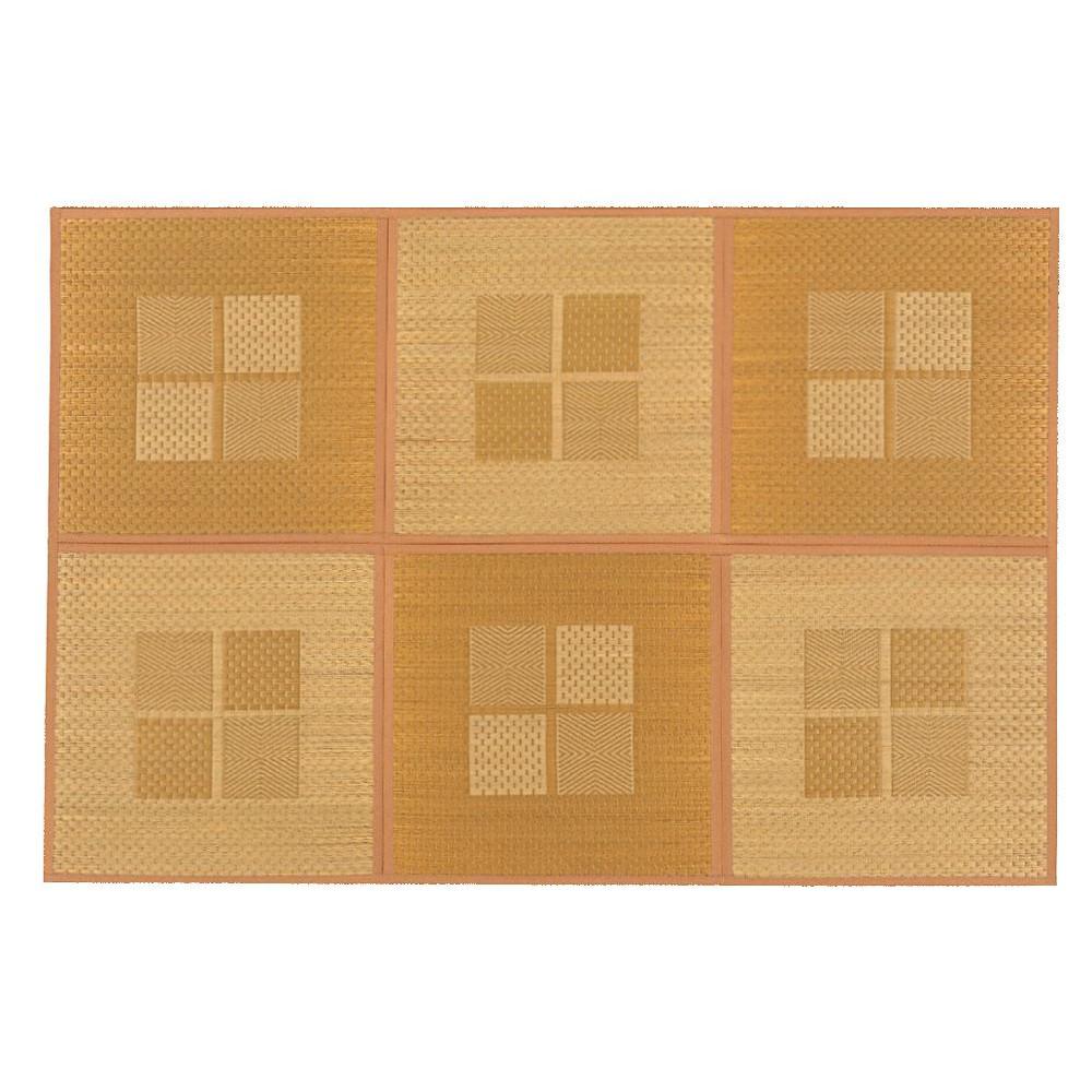 緑茶染め い草アクセントラグ 祇園 約133×200cm ベージュ TSN504141