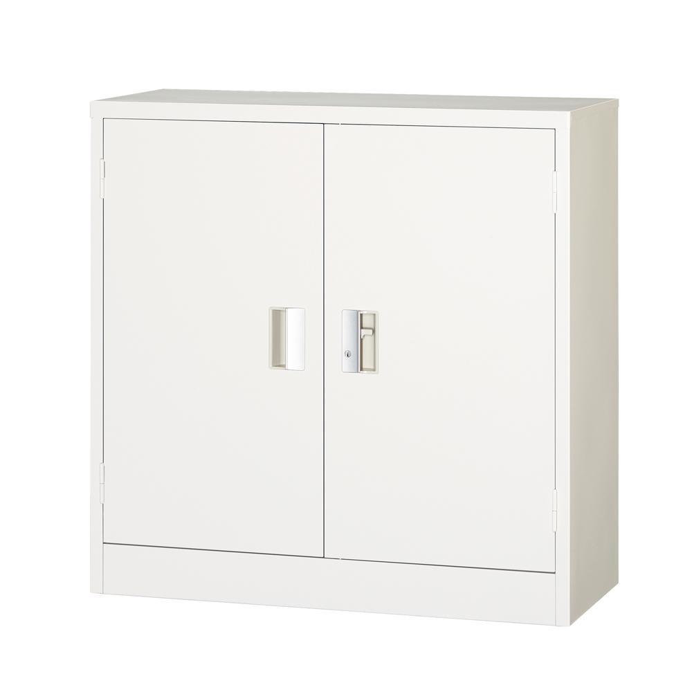 流行 生活 雑貨 一般書庫 両開 シリンダー錠 ホワイト COM-303-W