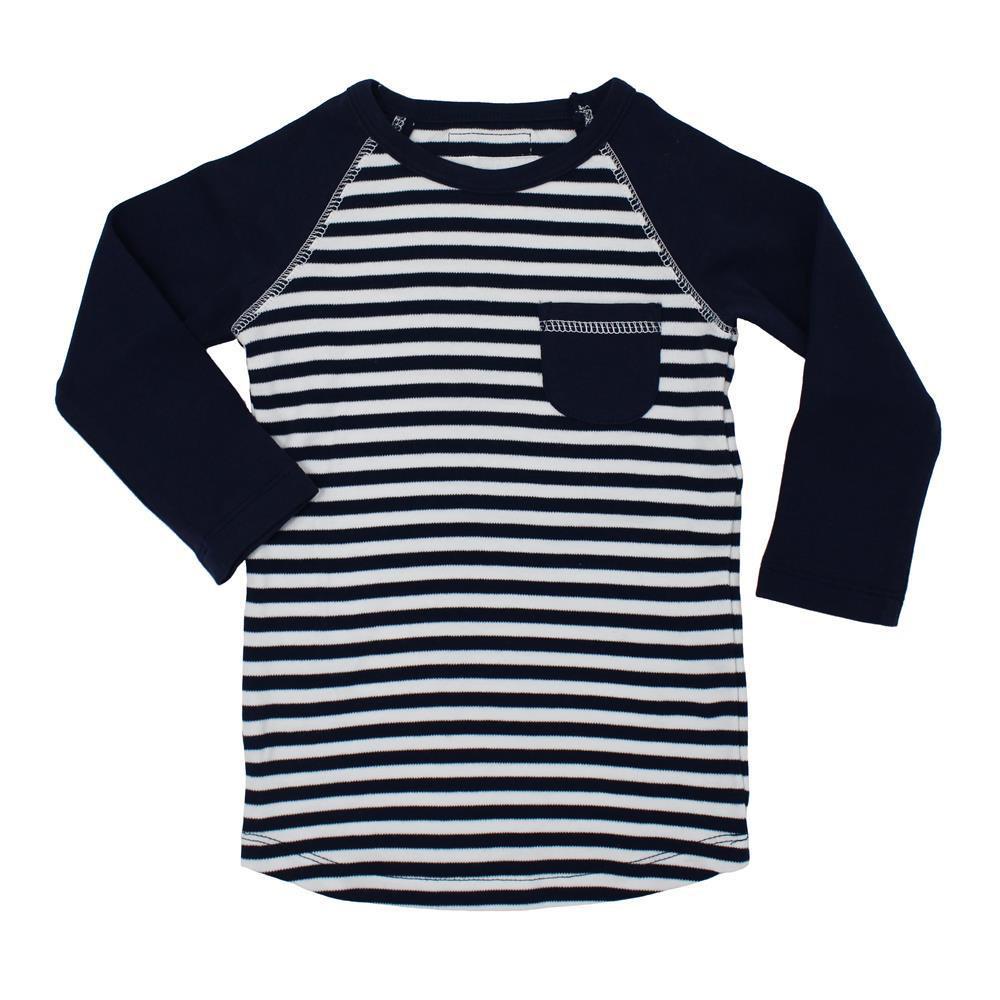 流行 生活 雑貨 ストライプ ラグラン Tシャツ sap-302 ネイビー/ホワイト・6~9ヵ月