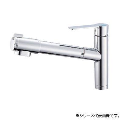 日本最級 おしゃれ シングル浄水器付ワンホールスプレー混合栓 雑貨 トレンド K87580E1JV-13:創造生活館-木材・建築資材・設備