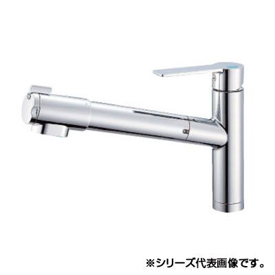 日用品 便利 ユニーク 三栄 SANEI シングル浄水器付ワンホールスプレー混合栓 寒冷地用 K87580E1JK-13