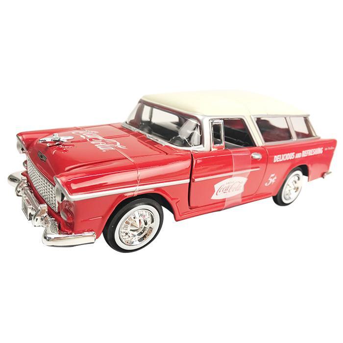 プラモデル・模型 車・バイク 関連 Coca Cola(コカ・コーラ)シリーズ シボレー ノマド 1955 ボトルケース2個&メタルカート付 1/24スケール 424110