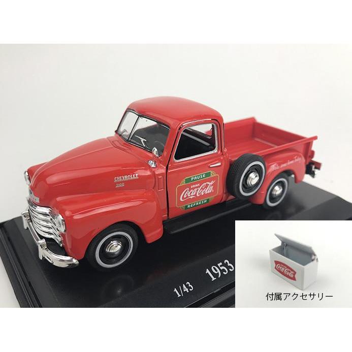 流行 生活 雑貨 モデルカー シボレー ピックアップ 1953 メタルクーラー付 1/43スケール 478104