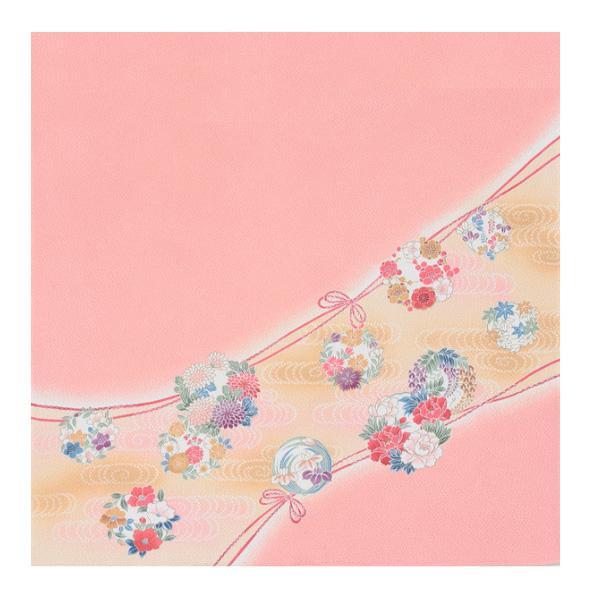 流行 生活 雑貨 ふろしき 絹75cm幅 華くす玉 ローズ 11-5452-20