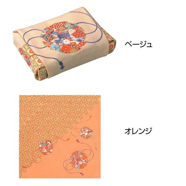 流行 生活 雑貨 ふろしき 絹68cm幅 花丸のし オレンジ・11-2511-42