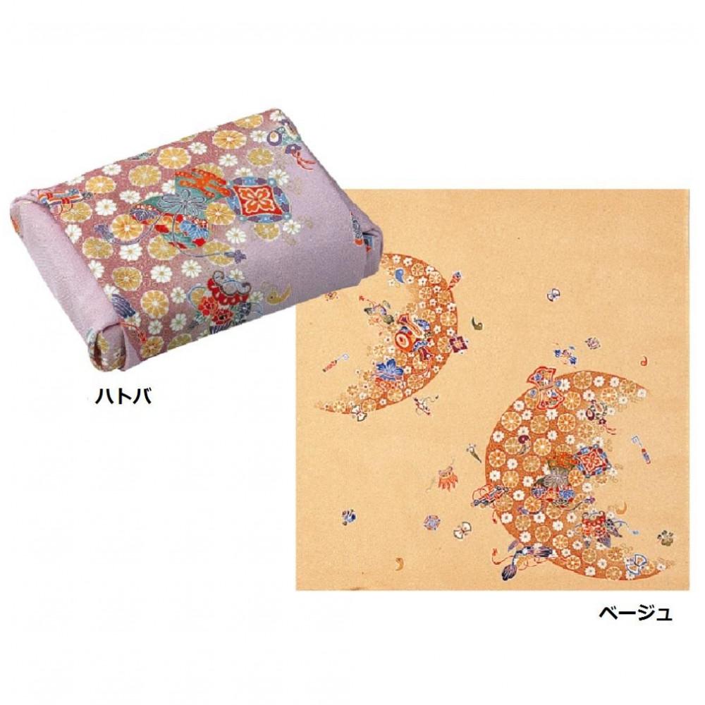 流行 生活 雑貨 ふろしき 絹68cm幅 三日月宝づくし ハトバ・11-2512-92
