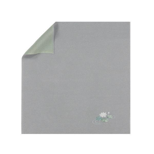 流行 生活 雑貨 ふろしき 絹45cm幅 蓮 鼠/利休 11-0354-05