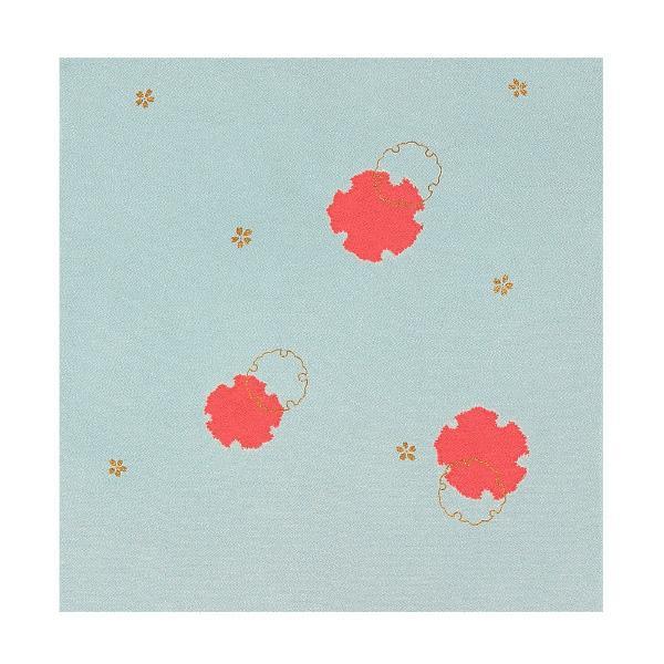 流行 生活 雑貨 ふろしき 絹75cm幅 重ね雪輪 鼠 11-5407-05