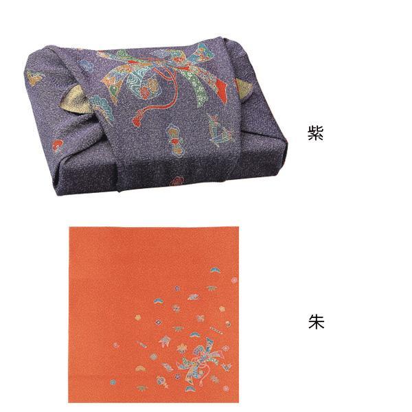 流行 生活 雑貨 ふろしき 絹68cm幅 宝散し・百寿 紫・11-4621-95