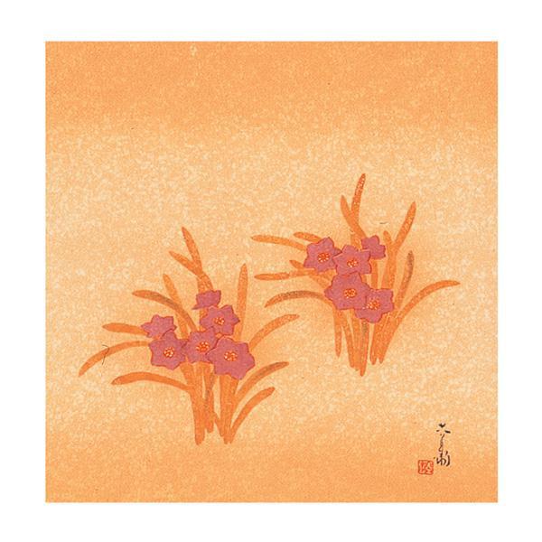 流行 生活 雑貨 ふろしき 名作ふろしき 絹45cm幅 六代清水六兵衛 紫水仙 11-0412-40