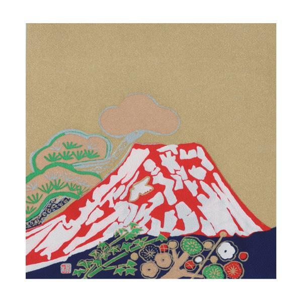 流行 生活 雑貨 ふろしき 名作ふろしき 絹45cm幅 片岡球子 松竹梅に富士山 11-0440-45