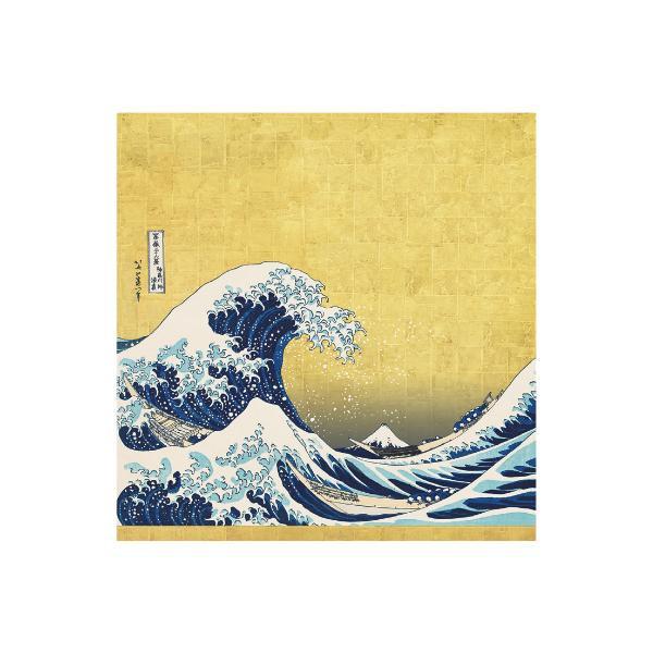 流行 生活 雑貨 ふろしき ポリエステル88cm幅 神奈川沖浪裏 12-2592-40