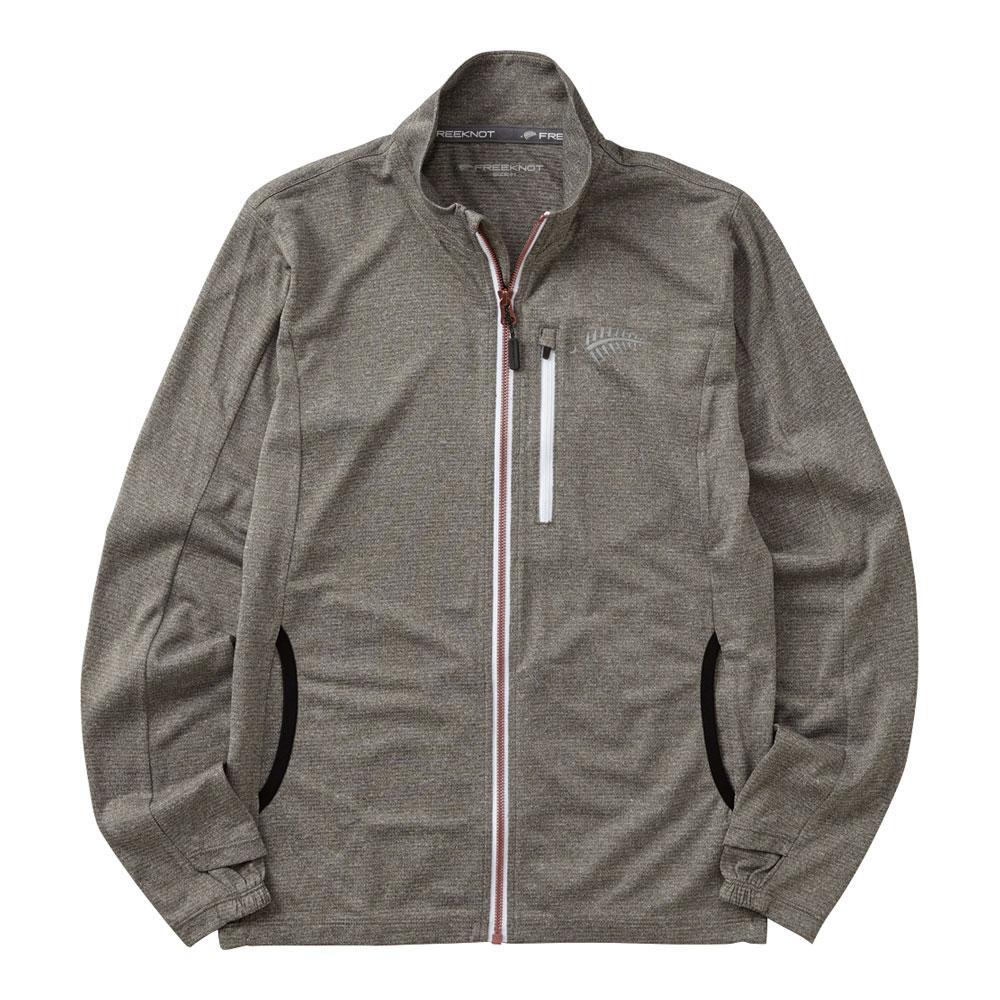 流行 生活 雑貨 ジップアップジャケット 杢グレー Y1440W-L-94