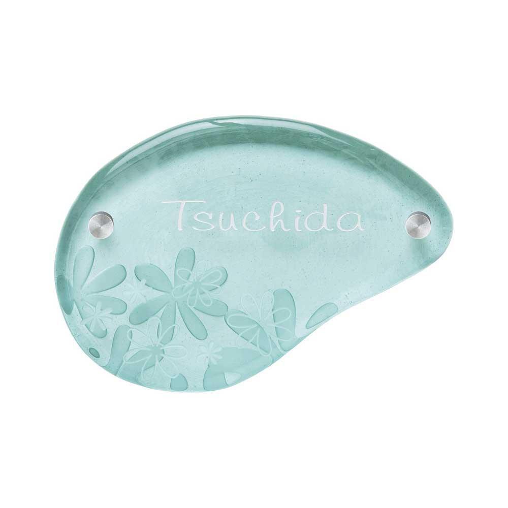 日用品 便利 ユニーク ガーデニング・DIY ガラス表札 エコガラス GX-8/再利用したガラスが生まれ変わりました