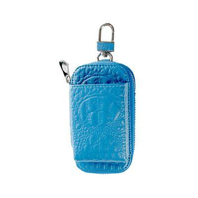 流行 生活 雑貨 加熱式タバコケース タバコ入れ付き クロコシリーズ ブルー IQT-C01