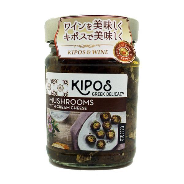 日用品 便利 ユニーク 軽食品 キポス グリルドマッシュルーム クリームチーズ入り 230g×6個/ワインのお供にピッタリ