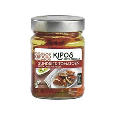 軽食品 キポス サンドライトマト クリームチーズ入り 230g×6個/ワインに合うオイル漬け洋食材