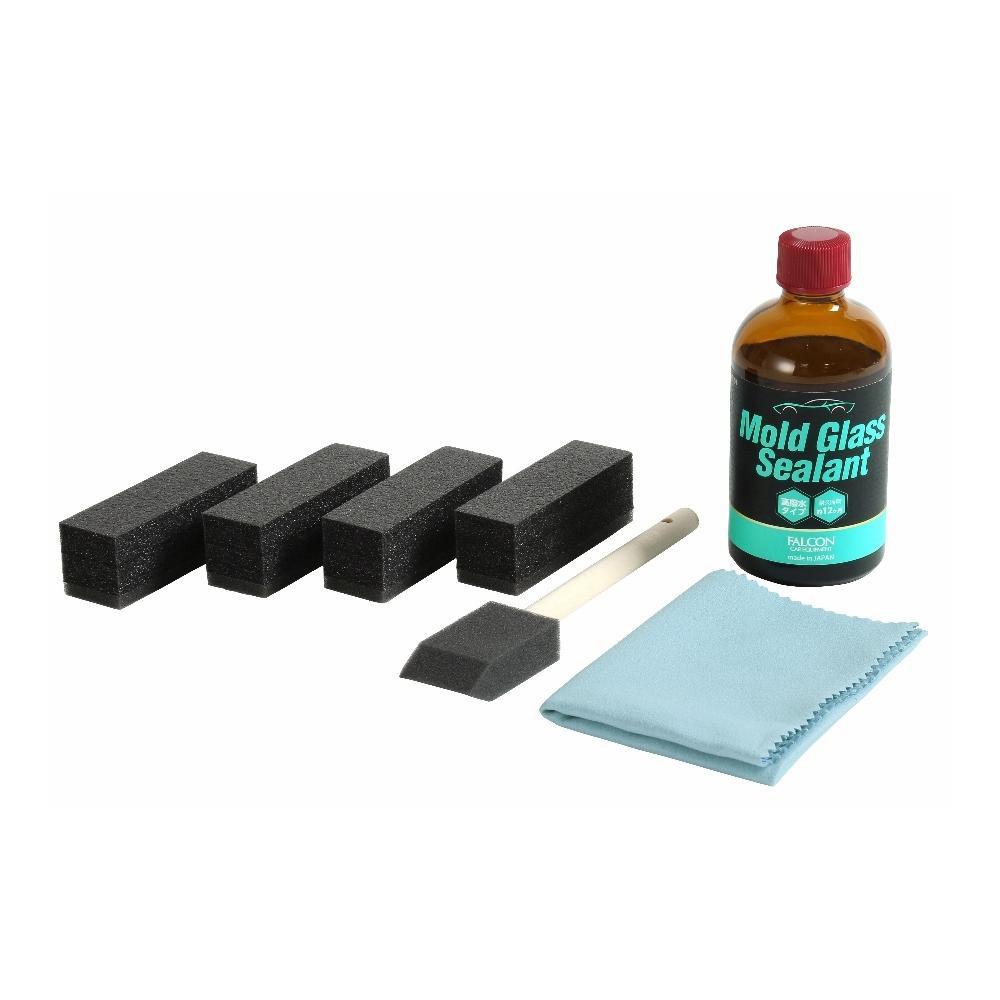 日用品 便利 ユニーク アウトドア FALCON ボディケア用品 モールグラスシーラント100ml(クロス、スポンジ付) PB-01/車のボディケアに 樹脂部分の黒をもっと黒く