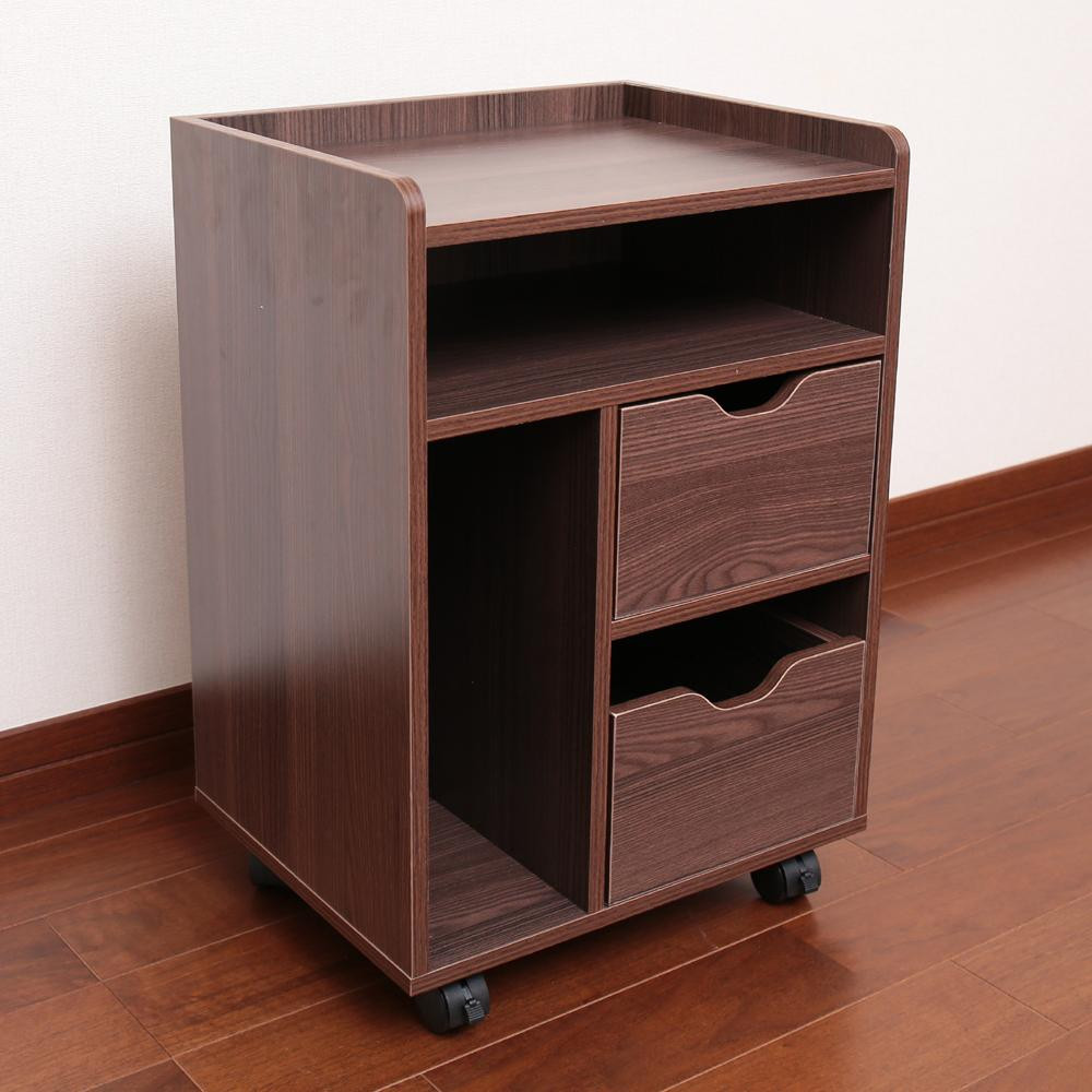 木製テーブル下ワゴン ダークブラウン LDW-38DBオススメ 送料無料 生活 雑貨 通販