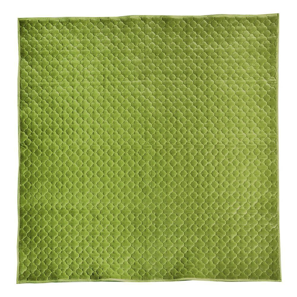 モロッカンキルトラグ グレイッシュ グリーン 約185×185cm 240617316人気 お得な送料無料 おすすめ 流行 生活 雑貨