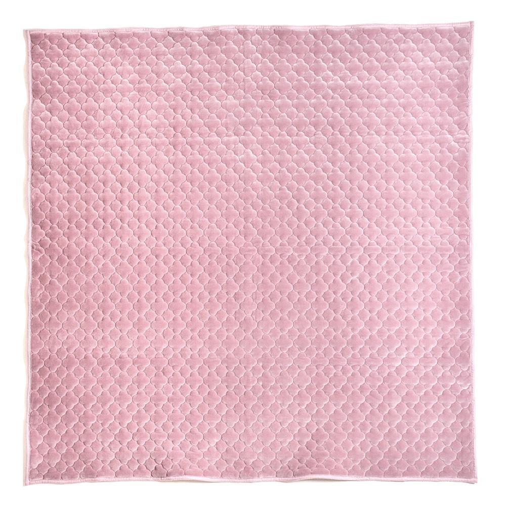 モロッカンキルトラグ グレイッシュ ピンク 約185×185cm 240617311人気 お得な送料無料 おすすめ 流行 生活 雑貨