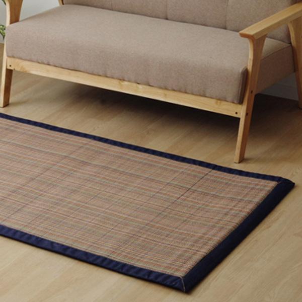 家具 インテリア おしゃれ ふっくら竹カーペット 『DDXリオ』 約90×180cm 5350020/カラフルな糸を使用しデザインを出した竹ラグです