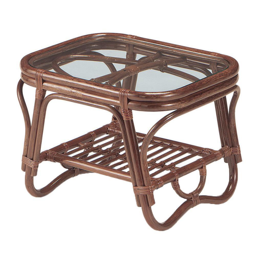 ラタン 籐 テーブル サイドテーブル ダークブラウン NO-36CNお得 な全国一律 送料無料 日用品 便利 ユニーク