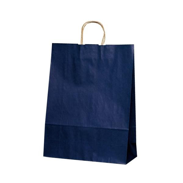 自動紐手提袋 紙袋 紙丸紐タイプ 380×145×500mm 200枚 カラー(紺) 1449人気 お得な送料無料 おすすめ 流行 生活 雑貨