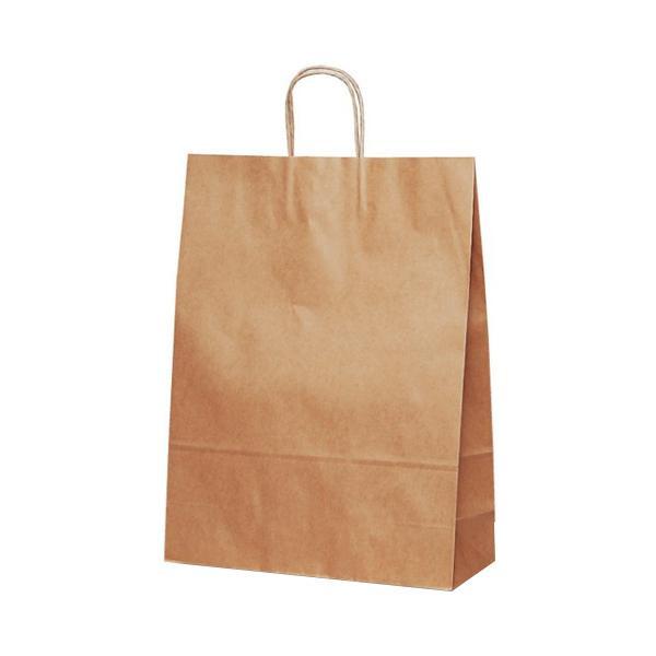 自動紐手提袋 紙袋 紙丸紐タイプ 380×145×500mm 200枚 茶無地 1496人気 商品 送料無料 父の日 日用雑貨