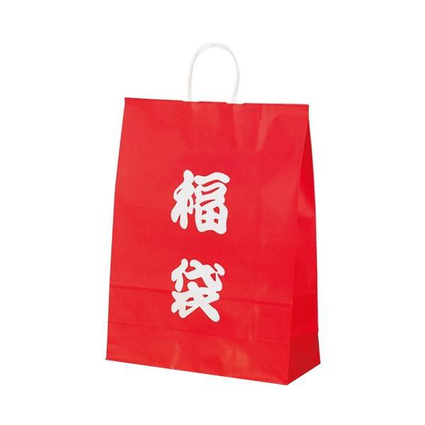 トレンド 雑貨 おしゃれ 自動紐手提袋 紙袋 紙丸紐タイプ 380×145×500mm 200枚 福袋(文字) 1495