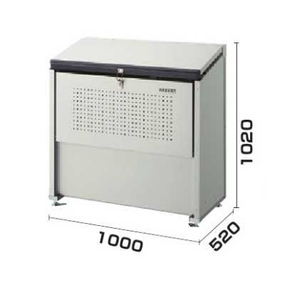 流行 生活 雑貨 ゴミ収集庫 クリーンストッカー 省奥行タイプ 容量400L CKE-1005