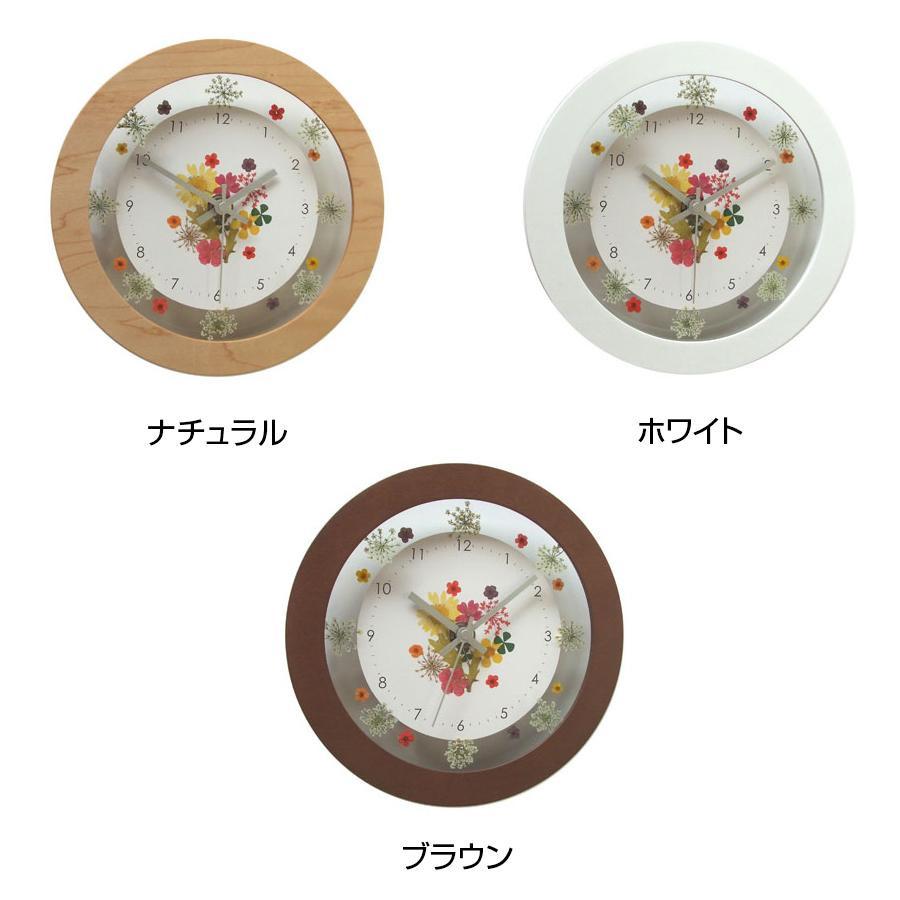 流行 生活 雑貨 ボタニカクロック 電波時計 V-0060 ブラウン
