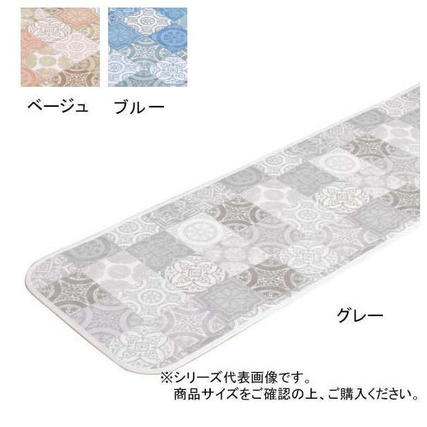 拭けるマット アンティグロ キッチンマット 60×270cm ブルー人気 商品 送料無料 父の日 日用雑貨