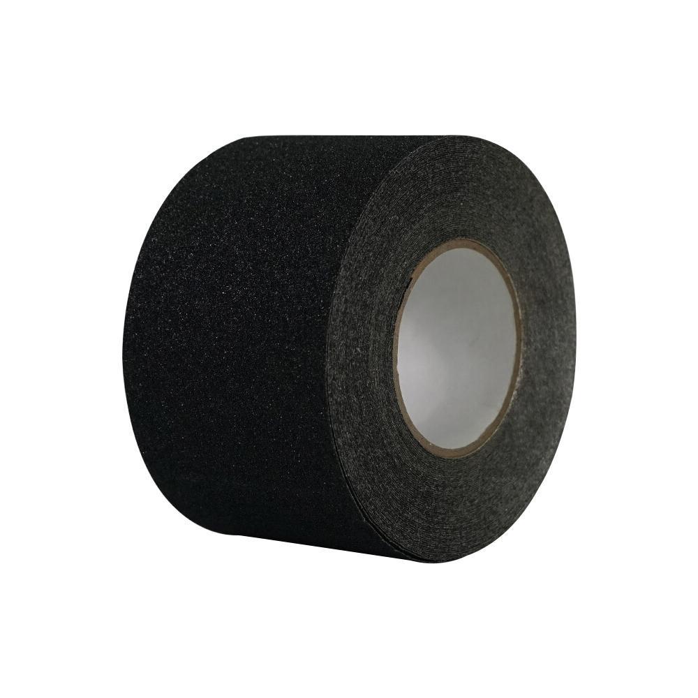 【単四電池 4本】付き滑りやすい場所に最適。 流行 生活 雑貨 アルミ滑り止めテープ 黒 100mm x 18m 14452