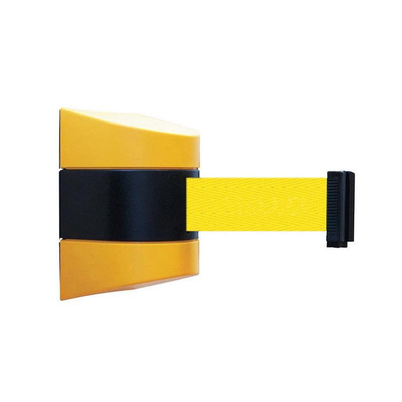 流行 生活 雑貨 壁用ベルトパーテーション 黄 約5m 11216